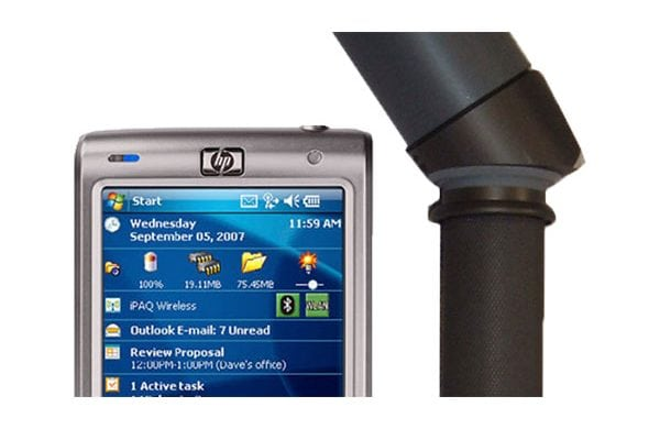 Genfare's ultralite probe close up product with mobile phone