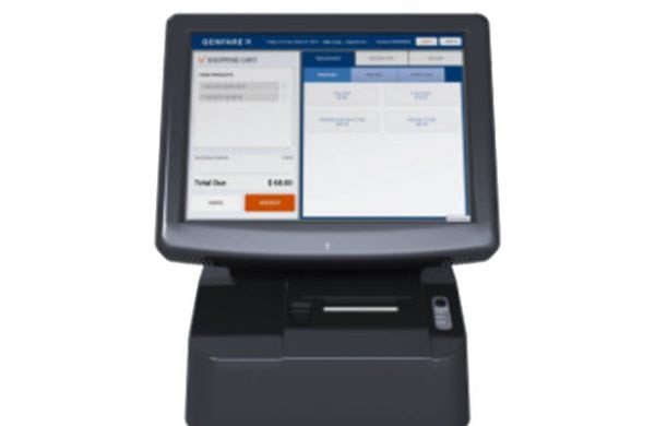 Genfare's Administrative Point of Sale (APOS) farebox full product facing forward