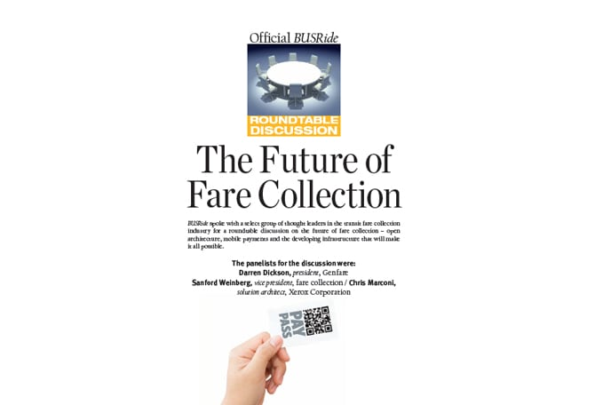 The future of fare collection